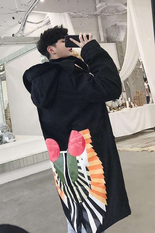 Nueva chaqueta con capucha de invierno de gran tamaño azul negro blanco abrigo de plumón para mujer - 6