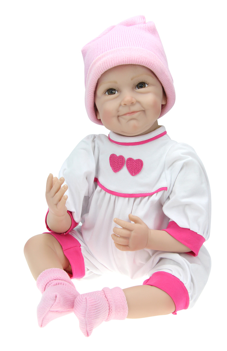 Hot Silicone reborn baby doll toys girls lifelike girl brinquedosaccompany sleeping baby for children kid christimas gifts lifelike american 18 inches girl doll prices toy for children vinyl princess doll toys girl newest design