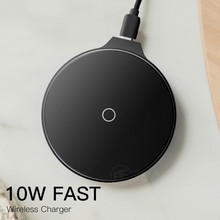 10W Qi Wireless Charger for iPhone X Xs MAX XR 8 Fast Charging Wireless for Samsung Xiaomi Huawei USB mobile Phone Charger Pad usb uv mobile phone sterilizer with usb charging wireless charging for qi suitable for most 6 inch mobile phone watch jewelry