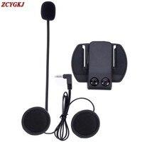 1 pz/lotto, V6 Accessori Auricolare Speaker & Staffa Clip solo Vestito per V6 V4 V2-500C BT Interphone 3.5mm Jack Spina