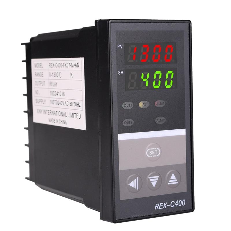 Podwójny cyfrowy regulator temperatury PID REX-C400 z termoparą - Przyrządy pomiarowe - Zdjęcie 2