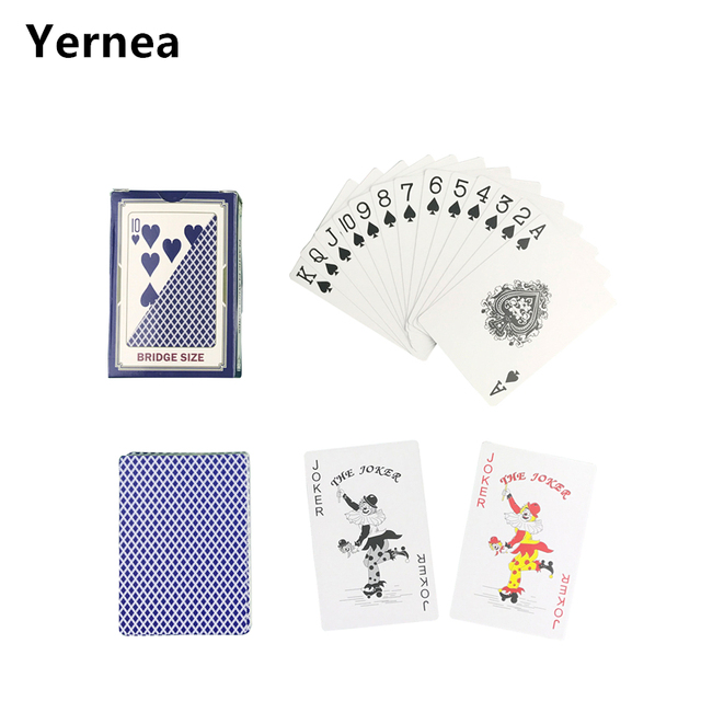 Hot New 1 Sets/Lot 2 Color For Red And Blue Baccarat Texas Hold'em PVC Poker Game Waterproof Plastic Playing Poker Cards Yernea