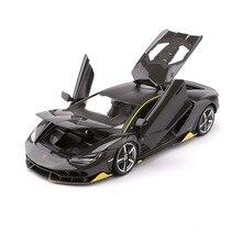 Modèle voiture de sport en alliage, échelle 1:18 Diecast LP770 4, jouets avec commande de volant avant et volant