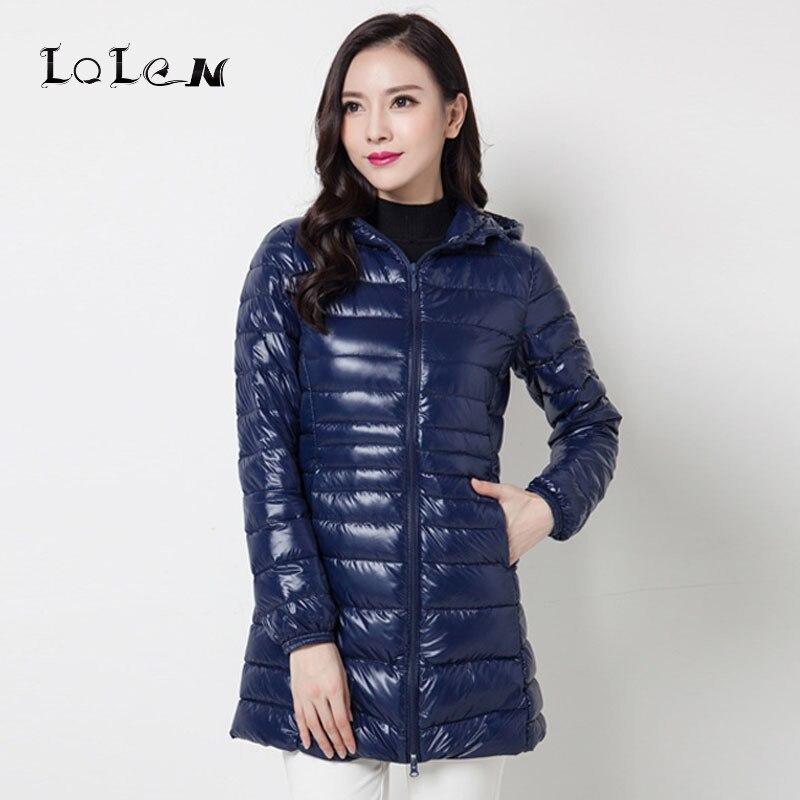 Roupas femininas Plus Size Luz Para Baixo Casaco de Inverno Com Capuz Pato Branco Para Baixo Moda Jaqueta Fina 45-110 KG