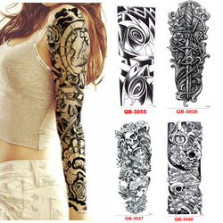 2128eb2ea3ad0 3Pcs Temporary Tattoo Sleeve Waterproof Tattoos for Men Women Transfer  Stickers Flash Tattoos Metallic Stickers for