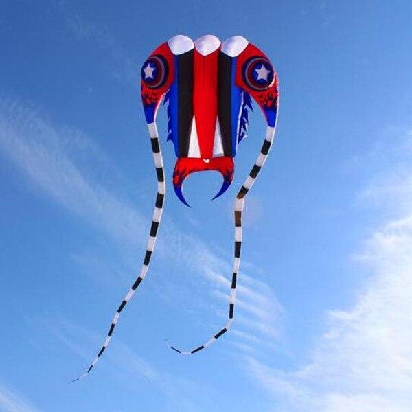 Nouveau design livraison gratuite grand trilobites cerf-volant 65sq. m capitaine cerfs-volants doux en nylon tissu ripstop cerf-volant bobine jouets volants weifang cerf-volant