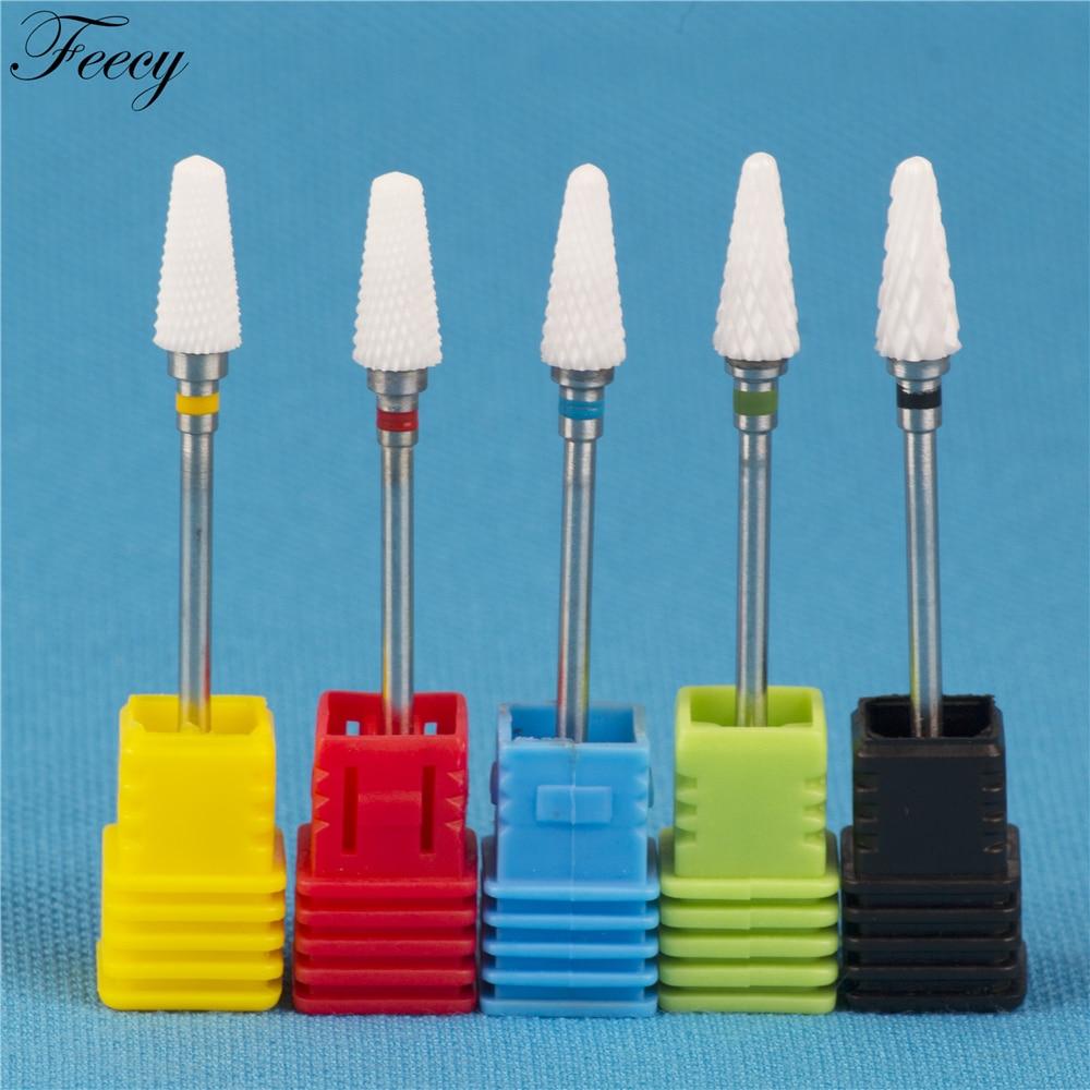 Milling Cutter For Manicure Ceramic Mill Manicure Machine Set Cutter For Pedicure Electric Nail Files Nail Drill Bit Feecy 5