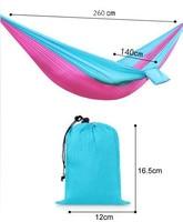 10pcs Lot 2 Person Portable Nylon Parachute Double Hammock Garden Outdoor Camping Travel Furniture Survival Swing