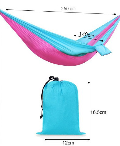 10pcs/lot 2 Person Portable Nylon Parachute Double Hammock Garden Outdoor Camping Travel Furniture Survival Swing Sleeping Bed 2 people portable parachute hammock outdoor survival camping hammocks garden leisure travel double hanging swing 2 6m 1 4m 3m 2m