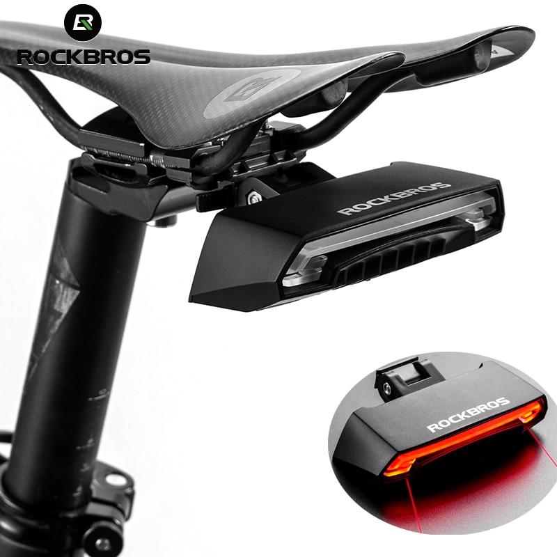 ROCKBROS светодио дный светодиодный подседельный хвост свет беспроводной MTB Предупреждение Безопасность велосипед водонепрони