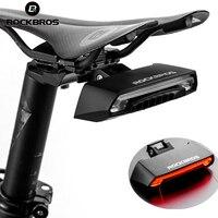 ROCKBROS Bike Bicycle LED Seatpost Tail Light Wireless MTB Safety Warning Bike Waterproof Intelligent Remote Control Rear Lamp