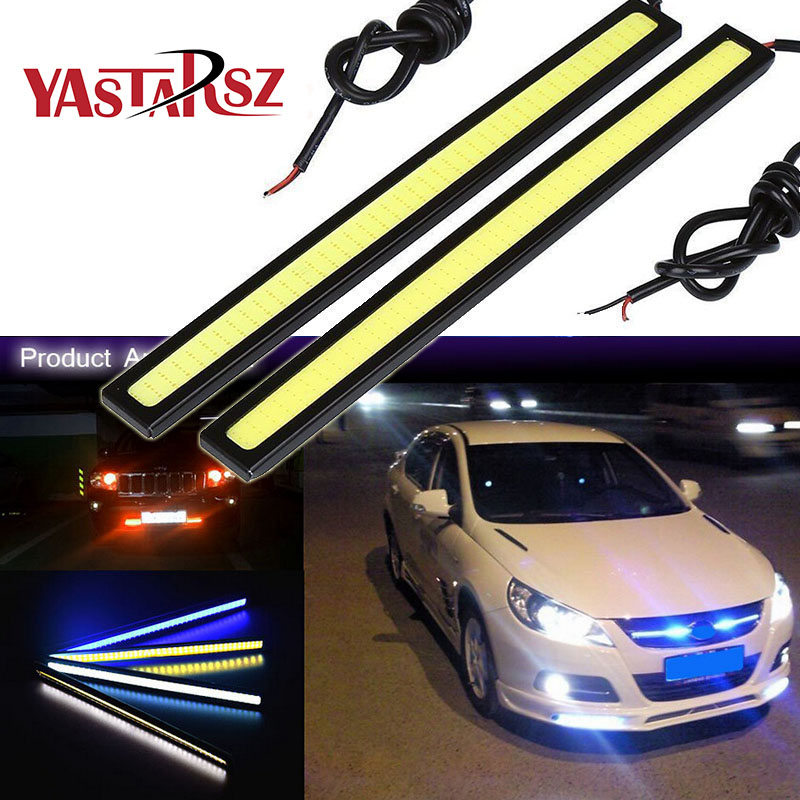 1Pcs 17CM LED COB DRL Daytime Running Lights DC12V External Waterproof Led Car Styling Car Light Source Parking Fog Bar Lamp new hot 12pcs cree chip leds daytime running lights led drl light bar parking car fog lights 12v dc head lamp for e70 x5 07 09