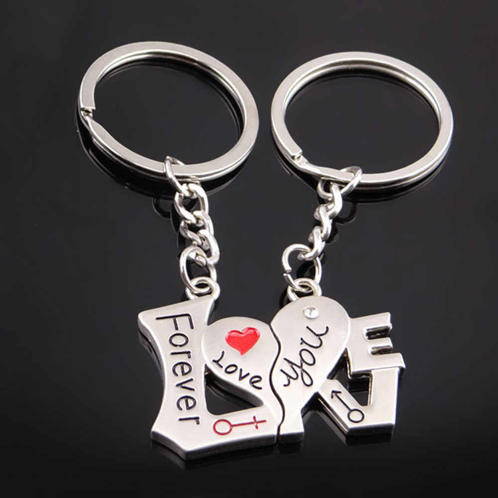 Creative Couple Keychain Gift Cup Love Key Ring For Lovers Key Chain Ring Holder Best Friends llaveros wholesale