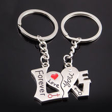 Creative Couple Keychain Gift Cup Love Key Ring For Lovers Key Chain Ring Holder Best Friends llaveros wholesale(China)
