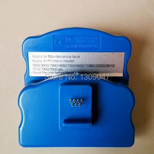 Chip resetter for Epson 20000 maintenance tank for 20000 waste ink tank free shipping good price mc 05 maintenance box resetter for canon ipf500 waste ink tank