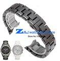 Керамические ремешок для часов белый или черный смотреть band 22 мм ремешок Бабочка Пряжка браслет высокого класса наручные часы группа