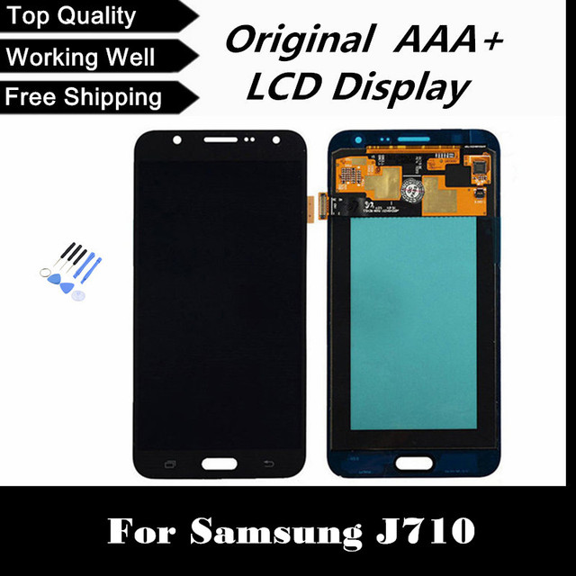 100% testado display lcd com tela de toque digitador para samsung galaxy j710 j710fn j710f j710m j710y j710g frete grátis