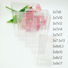 50pcs 3xWxH Pvc Box Clear Transparent Plastic Boxes Storage Jewelry Gift Wedding/Christmas/Candy/Party For Packing