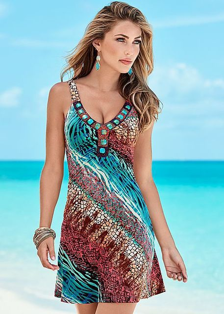 7996ecfb61e81 Summer Beach Wear Sexy Women Swimwear Swimsuit Bathing Suit Beachwear Beach  Dress Tunic Beach Sarongs Slip Low Cut Dress 5XL 4XL
