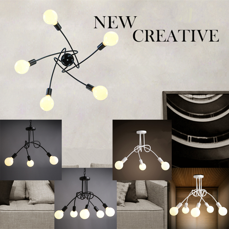 Light fixture Modern Ceiling lamps Bar lighting multi pendant lights for home decoration loft bedroom lamp hotel Art deco light xl to xxxl fleece solid black