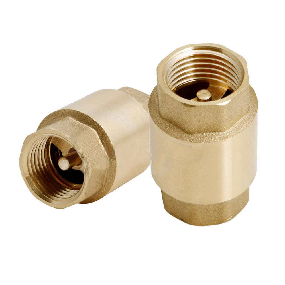 1//2/'/' NPT Brass In-Line Spring Vertical Check Valve Copper Control Tool 200WOG