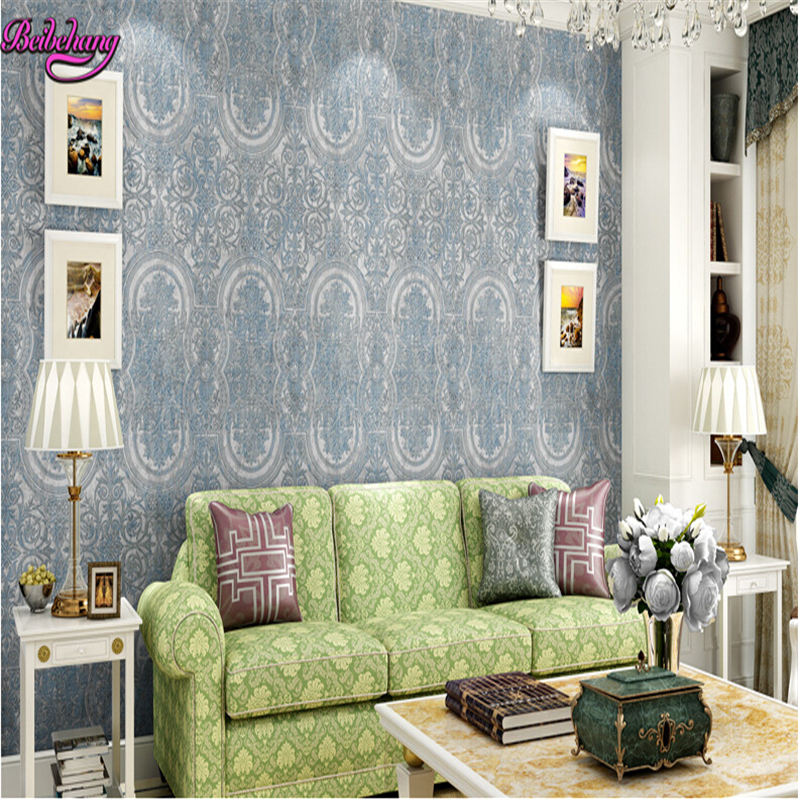 beibehang papel de parede Non woven pure wallpaper retro TVEuropean style bedroom living room background wall paper papier peint beibehang papel de parede retro classic apple tree bird wallpaper bedroom living room background non woven pastoral wall paper