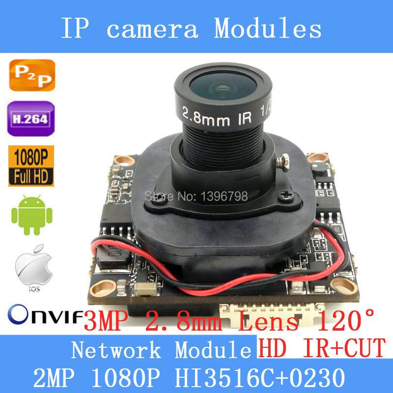 IPC Hi3516C+0230 1920 x1080P 1 / 2.8 2.0MP IP Camera Module Board 3MP 2.8mm 120 Wide-angle surveillance camera+ HD IR-CUT IPC Hi3516C+0230 1920 x1080P 1 / 2.8 2.0MP IP Camera Module Board 3MP 2.8mm 120 Wide-angle surveillance camera+ HD IR-CUT