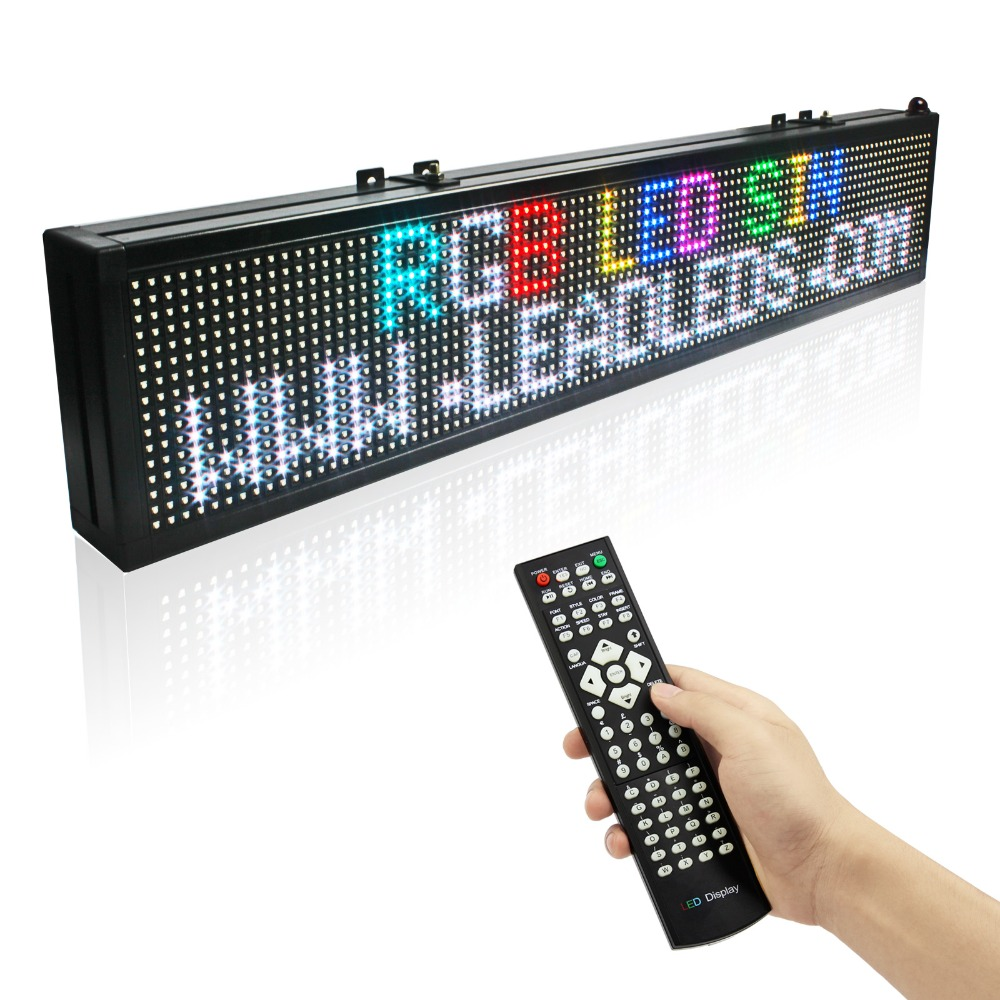 цена на RGB Led Display 16*128 Dots Matrix Remote Control Programmable Scrolling Message Display Board Indoor Used
