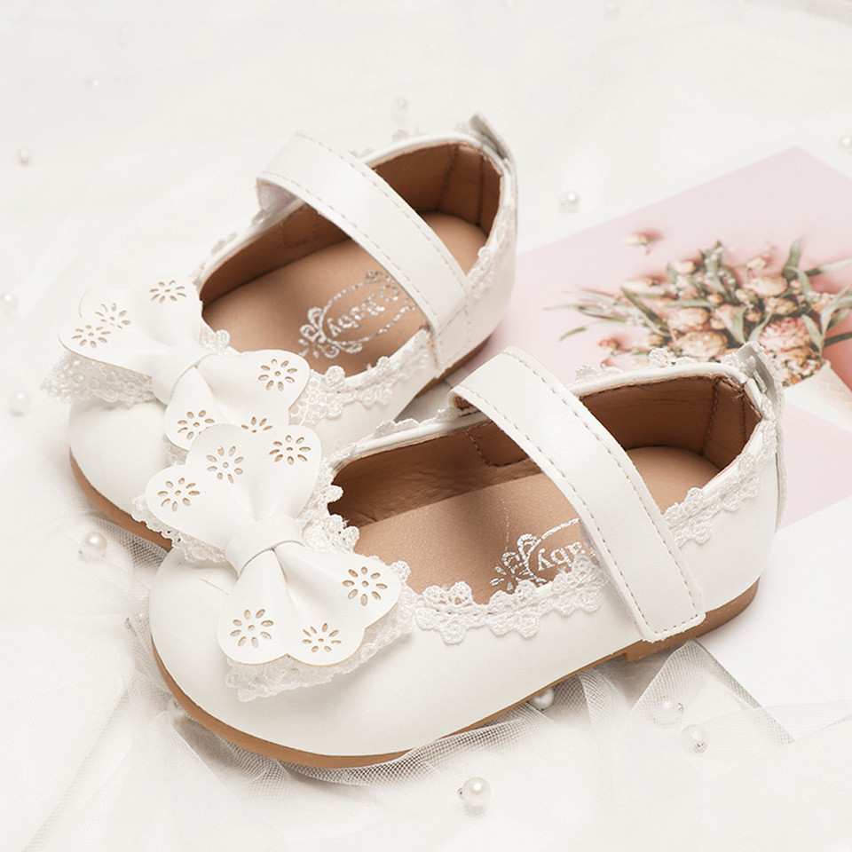 Summer Toddler Infant Kid Girl Bowknot Pearl Princess Thong Sandals Casual Shoes