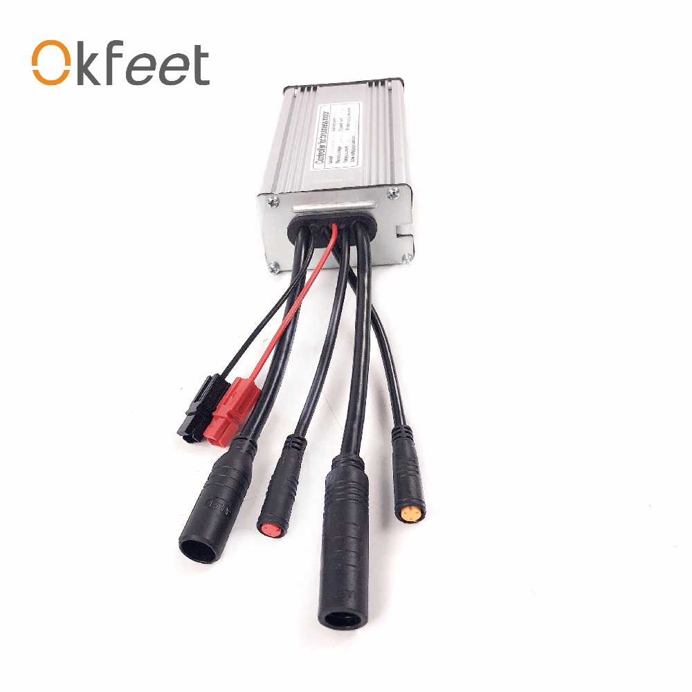 okfeet 36V 48V22A Electric bicycle standard sinewave controller Light function water tightness cable KT display conversion