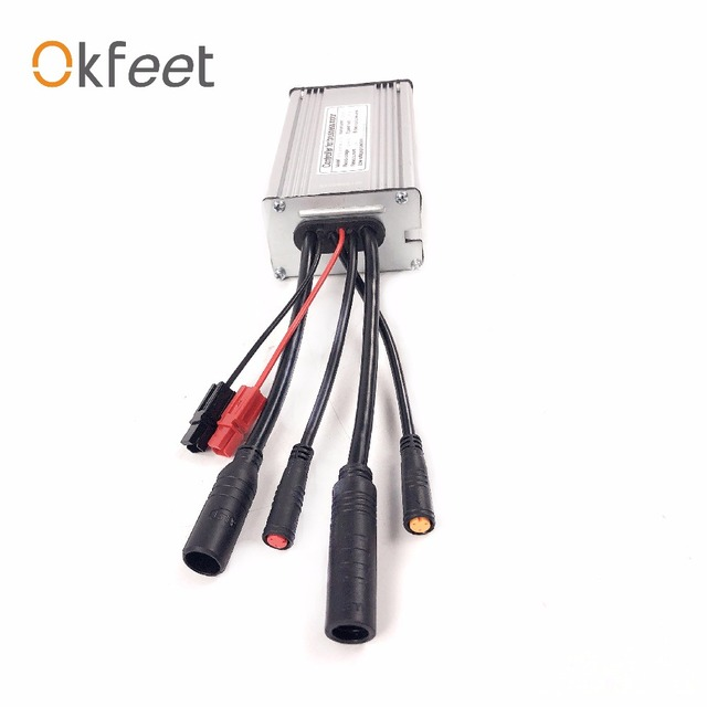 okfeet 36V/48V22A Electric bicycle standard sinewave controller Light function water tightness  cable  KT display conversion kit