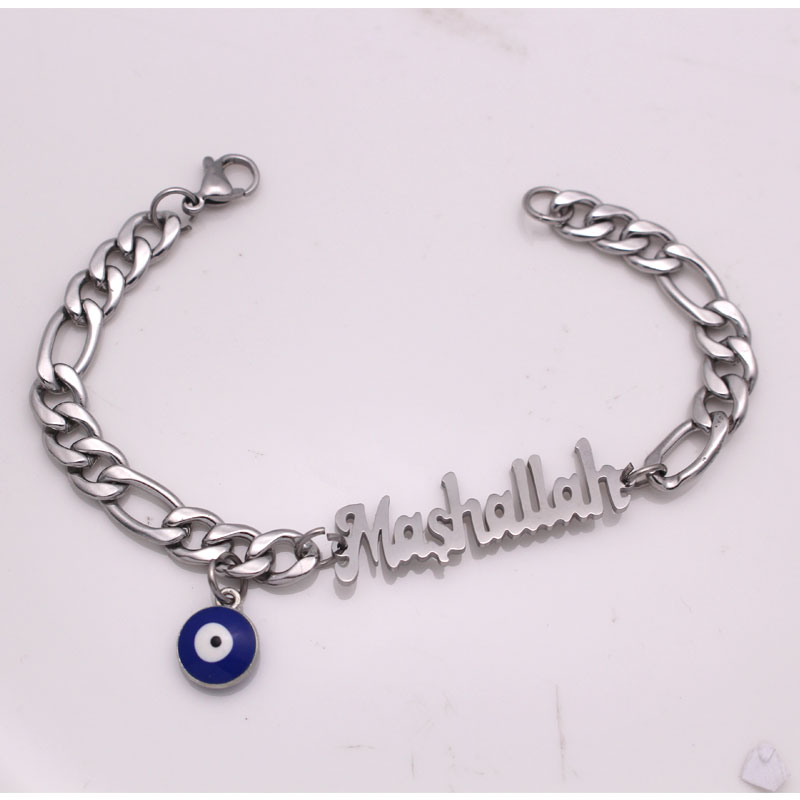 islam muslim Mashallah turkey evil eye stainless steel Bracelets