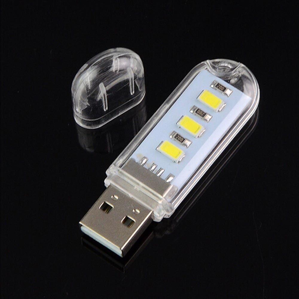 Mini Portable LED Bright USB Night Light Lamp Gadgets for PC Laptop Reading RS