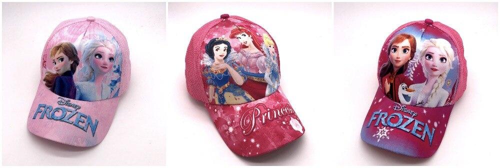 1 Stücke Beliebte Cartoon Kinder Mädchen Schöne Prinzessin Mode Sonne Hut Casual Cosplay Baseball Cap Kinder Party Geschenke