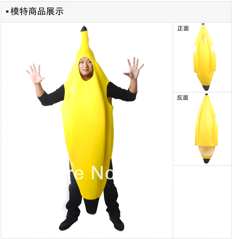 Free shipping ,adult funny banana costume suit ,halloween carnival party decoration