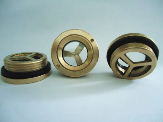 Brass Oil Gauge sight glass window round head for air compressor