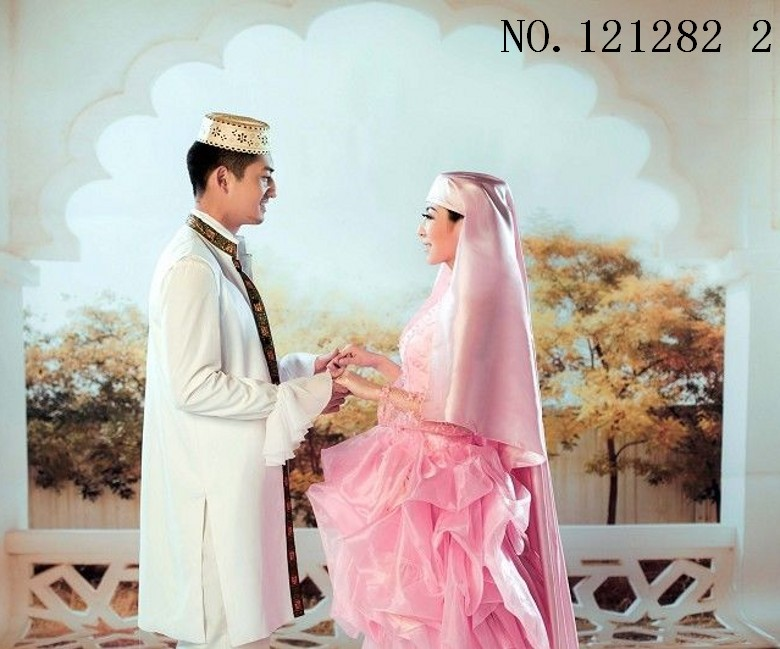 Customa musulmanes vestidos de boda para los hombres y las mujeres ...