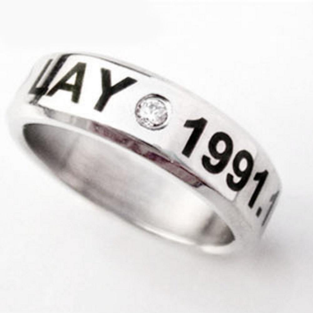 Helpful Kpop Team Exo Birthday Memorial Exo Titanium Ring Exo Free Shipping Rings