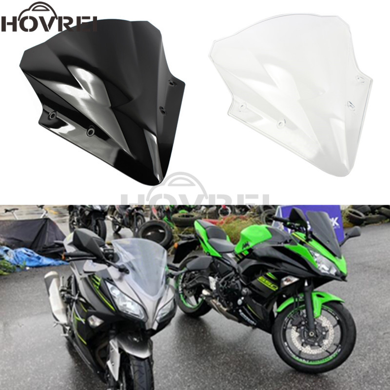 Detail Feedback Questions About Black Clear Motorcycle Windshield