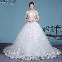 2019 Cheap Halter Lace Wedding Dresses Vintage Vestidos de Novia Plus Size Bride Dress Free Shipping
