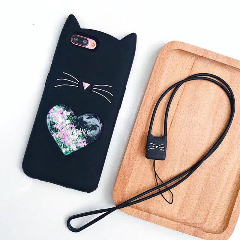3D Cute Cartoon Cat Shape Cover For Xiaomi Mi A1 A2 5X 6X 5 Redmi 4A 4X Note 5 Pro 4 4X 3 Soft Silicone Dynamic Liquid Case