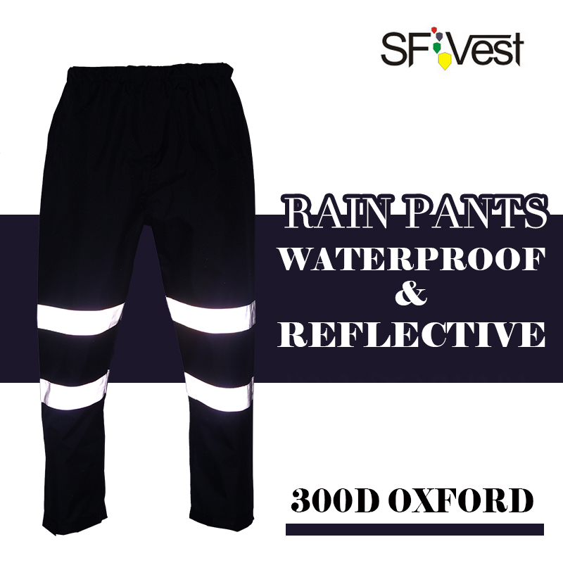 Mens hi viz rain Pants Casual night running biker reflective pants parkour jogger outdoor casual harem cargo trousers free post drawstring contrast stripe jogger pants