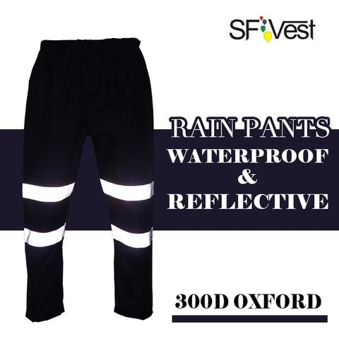 mens hi viz reflexiva a noite correndo motociclista chuva calcas casuais calcas harem parkour basculador