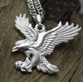 New Style Fine 999 Silver Pendant Gents Gift Lucky Bless Eagle Pendant S999
