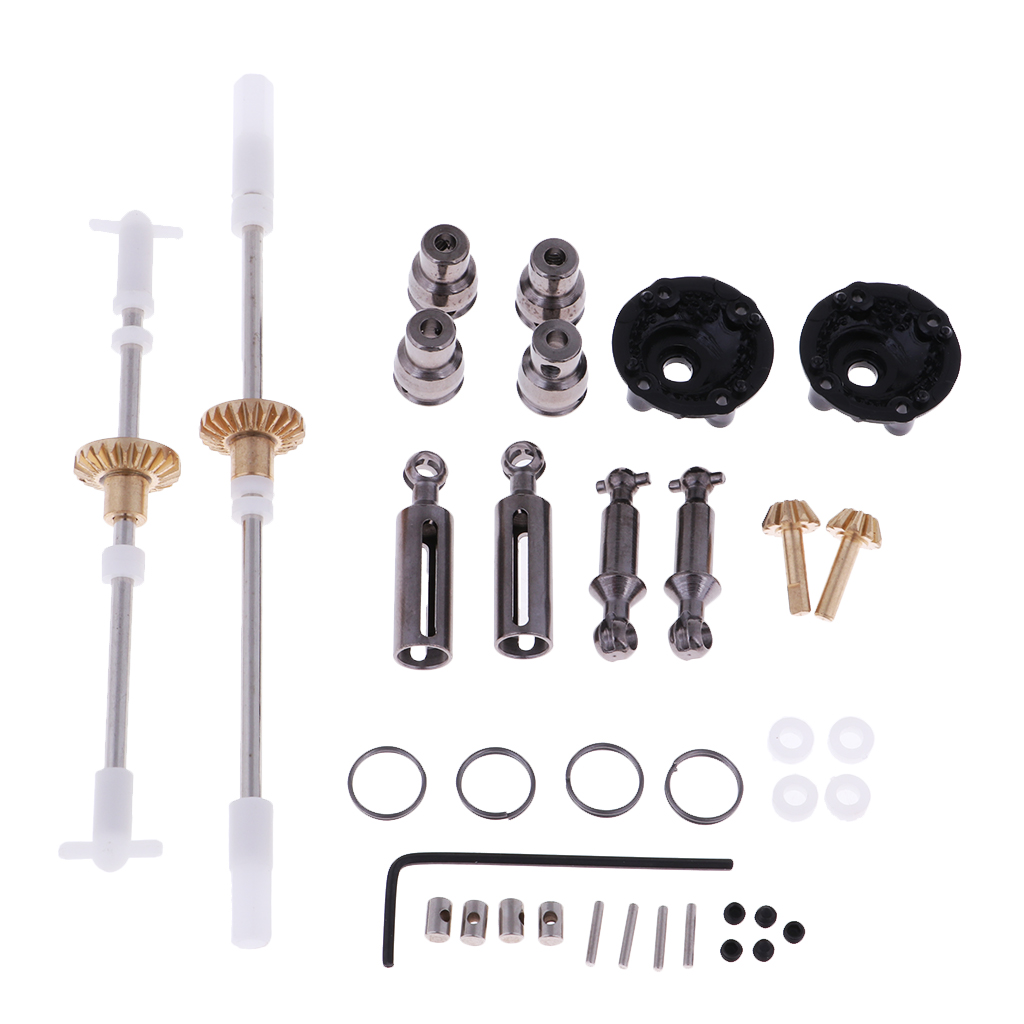 MagiDeal RC Car Drive Shaft + Gear Cogs Acccessories Combo for WPL 1:16 4WD 6WD Pickup Trucks Kit