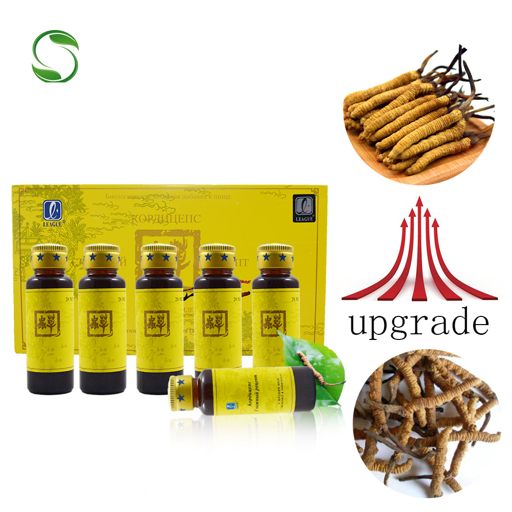 1 pack/6 bottles League Cordyceps sinensis anti aging strong kidney mushroom cordyceps extract enhance immunity anti cancer