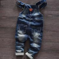 Практичный джинсовый комбинезон #1