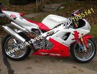 Ventas calientes, del mercado de accesorios YZF1000 98 99 Kit del carenado de Yamaha YZF R1 1998 1999 YZF-R1 rojo cuerpo ABS blanco ( moldeo por inyección )