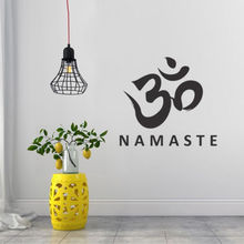 Wall Art Vinyl Decal Namaste Buddha Yoga OM Studio Sticker Peace Love Decor Home Decoration Style Mural AY811