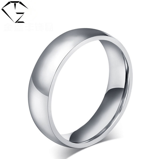 316l Edelstahl Ring Silber Farbe Trendy Hochzeit Ringe Fur Frauen